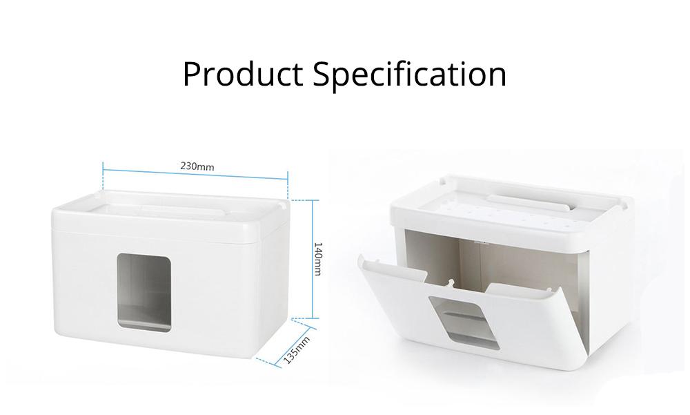 Wall Mount Toilet Paper Rack - Free Punching 7