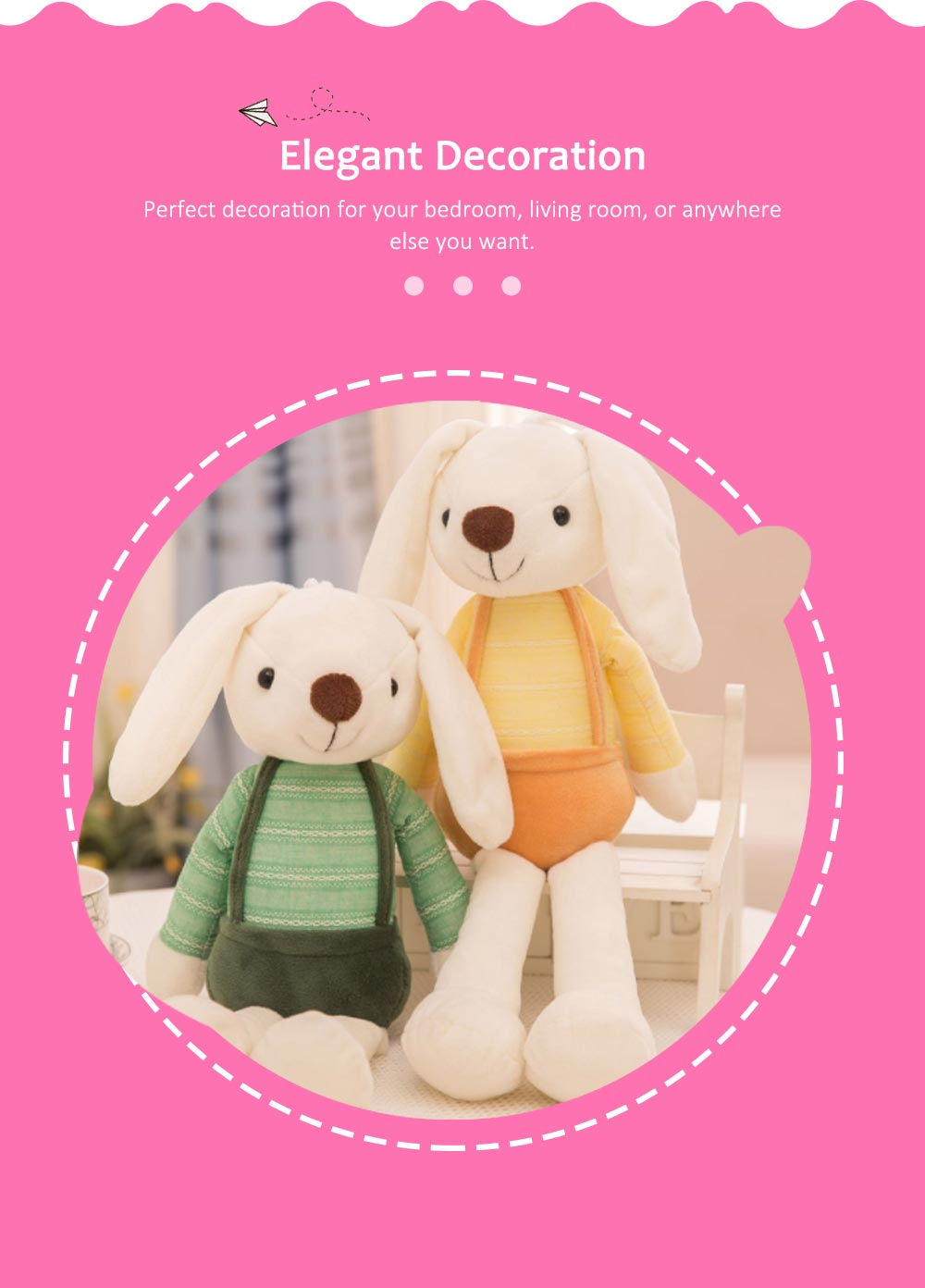 Sugar Candy Rabbit Plush Toy, Super Soft Cuddly Figures for Kids Gift Party Favors 6