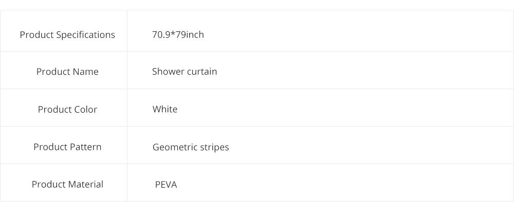 Waterproof Non Mildew Shower Curtain PEVA  Environmental Shower Curtain For Bathroom 8