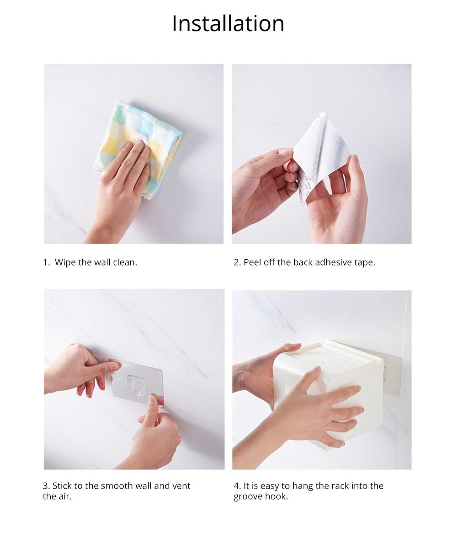 Toilet Paper Rack Holder, Punch-free Bathroom Tissue Box 11