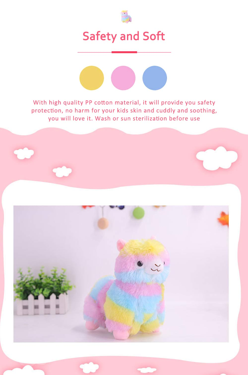 Colorful Grass Mud Horse Toy Doll, Stuffed Plush Animal Toys For Friends and Lovers 1