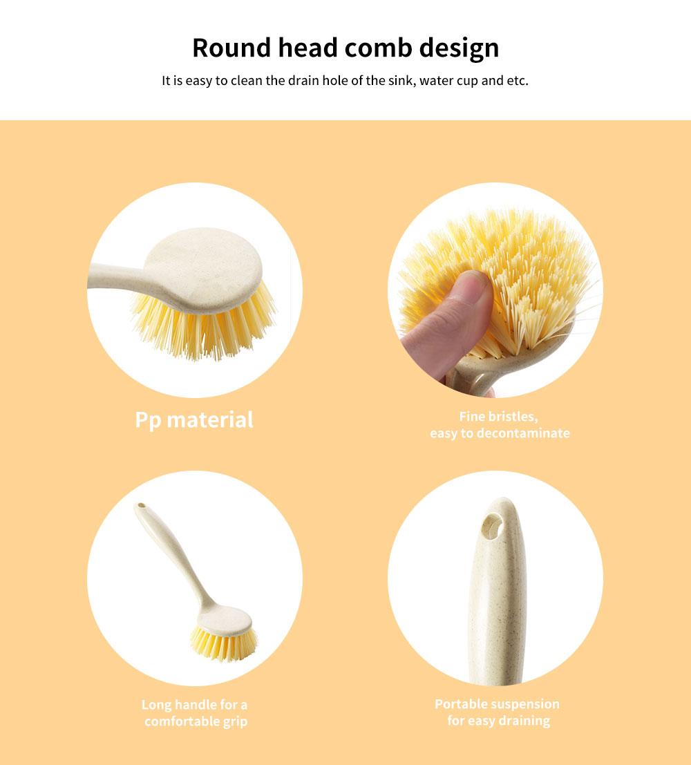Non Stick Pan Cleaning Brush, Long Handle Brush Pot Artifact 2