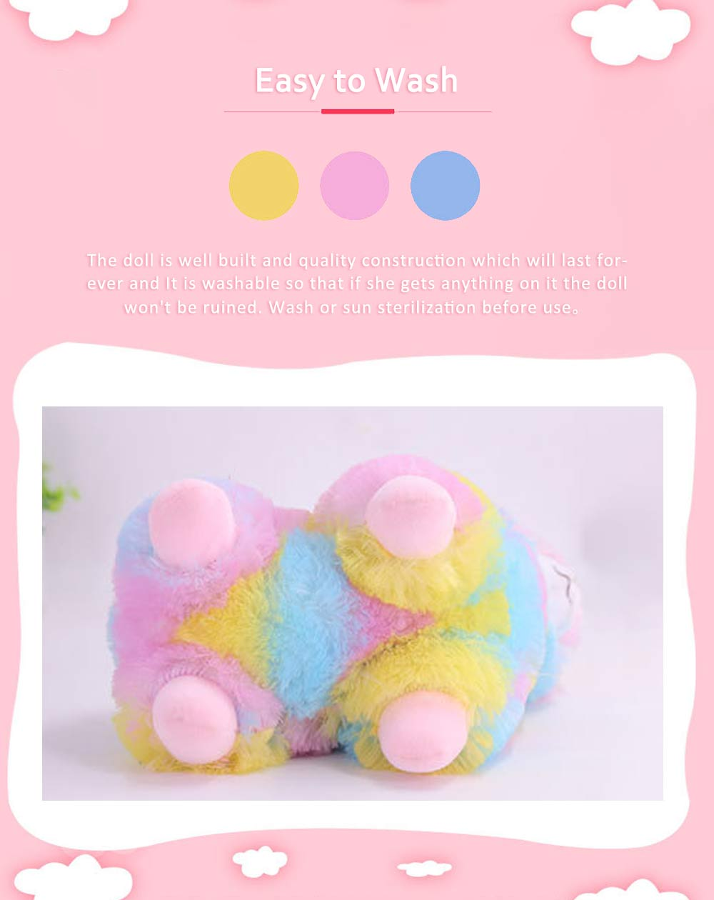 Colorful Grass Mud Horse Toy Doll, Stuffed Plush Animal Toys For Friends and Lovers 2