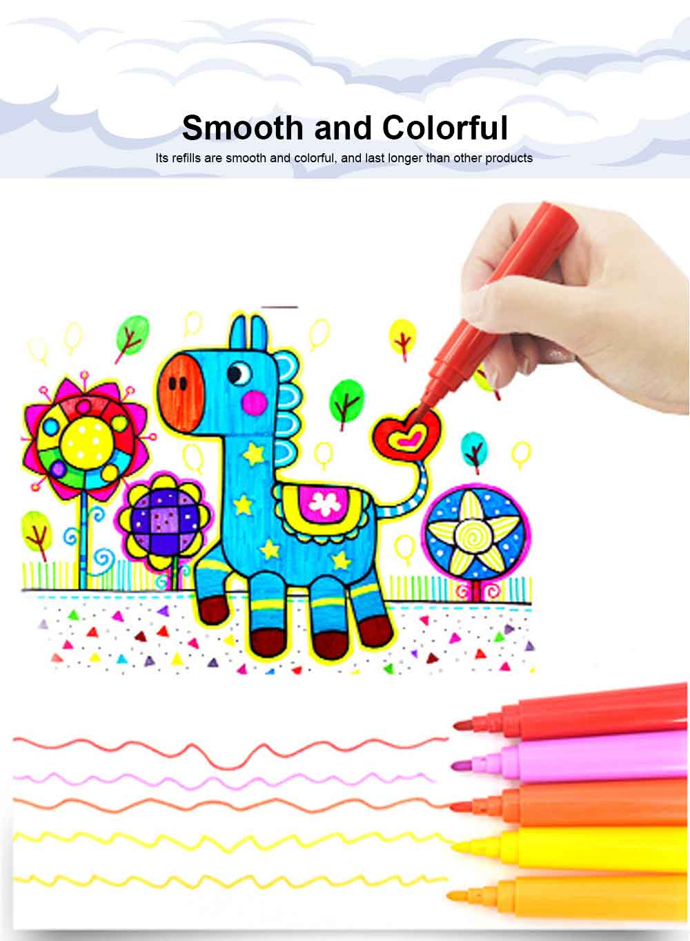 Children's Drawing Stationery, 176 PCS Children Art Painting Set 4