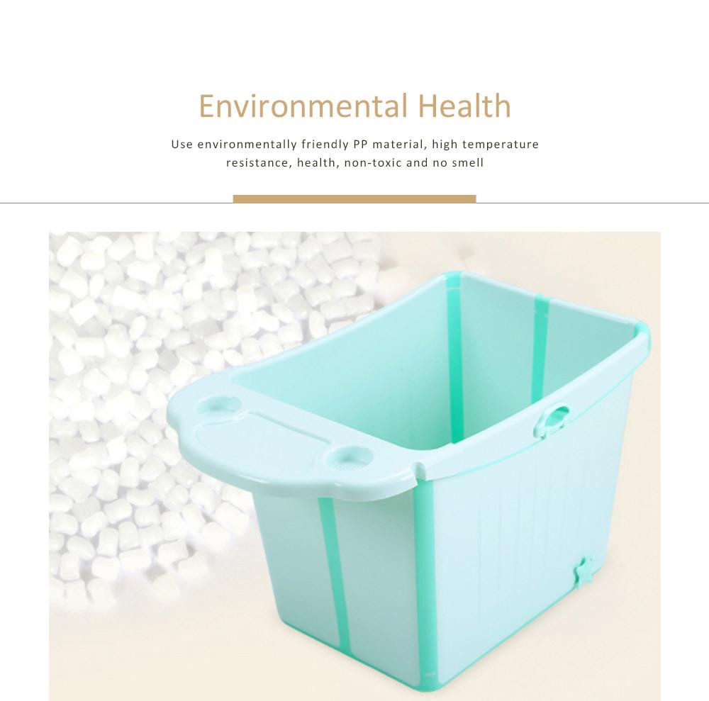 Foldable Child Bath Tub Plus Size Baby Bath Tub with Shelf 5