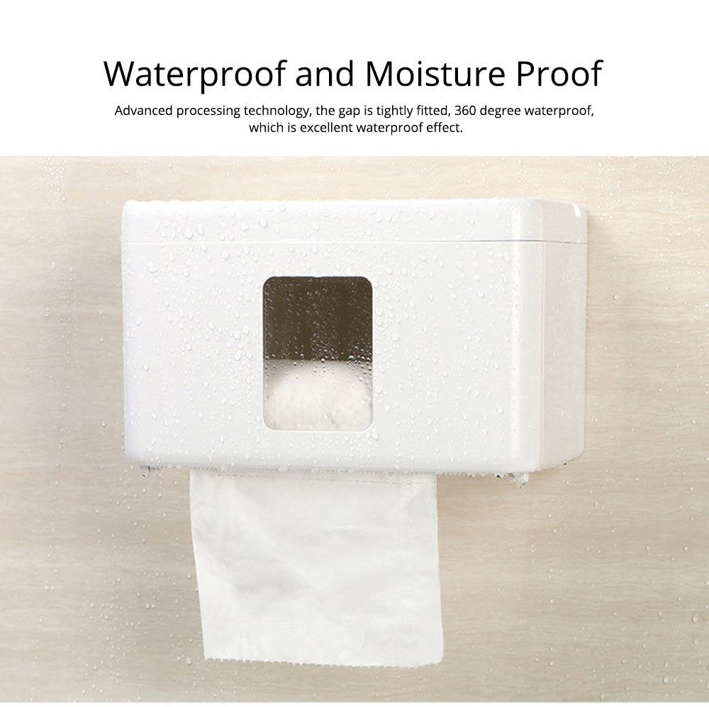 Wall Mount Toilet Paper Rack - Free Punching 4