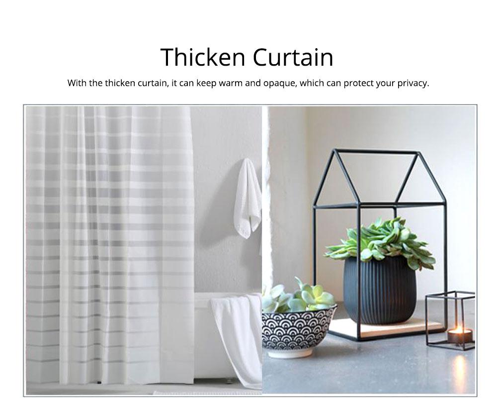 Waterproof Non Mildew Shower Curtain PEVA  Environmental Shower Curtain For Bathroom 4