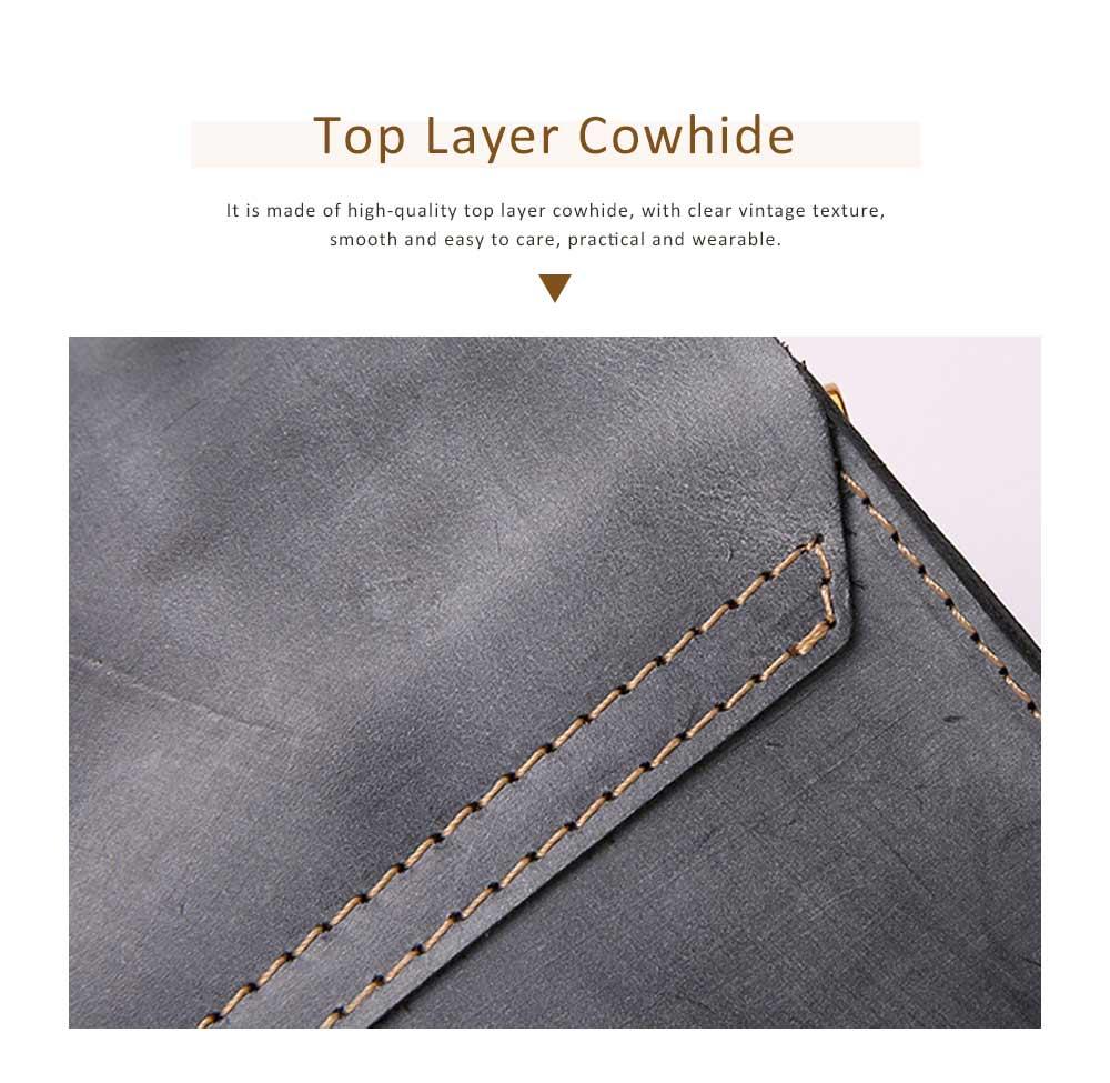Fashion Mini Shoulder Bag, Retro Handmade Top Cowhide Bag for Women 3