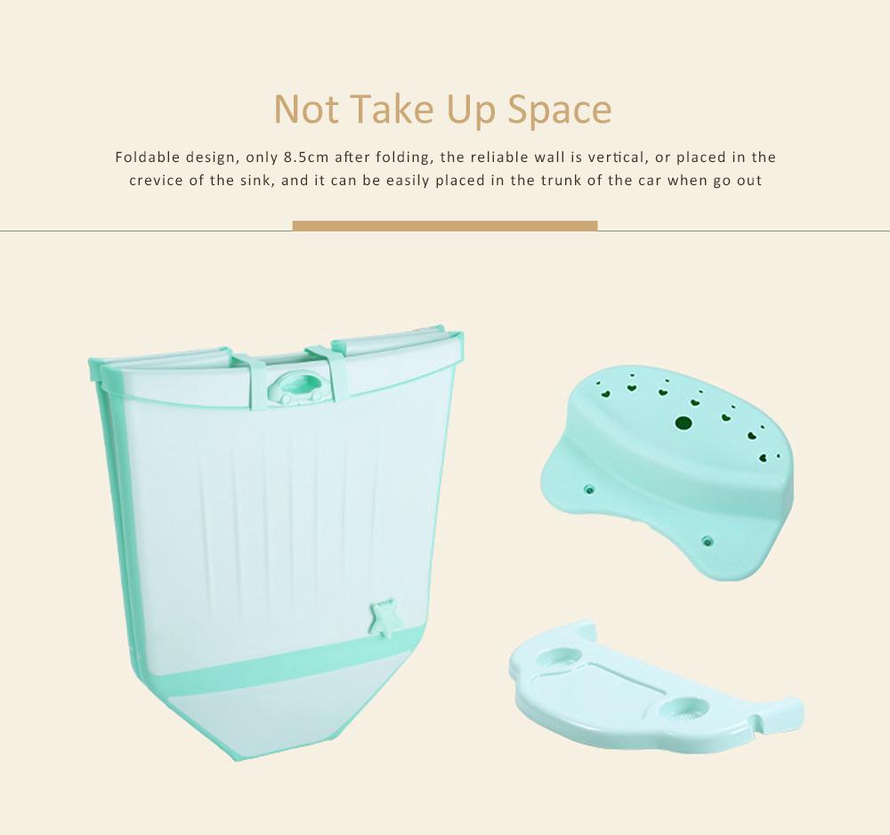 Foldable Child Bath Tub Plus Size Baby Bath Tub with Shelf 2