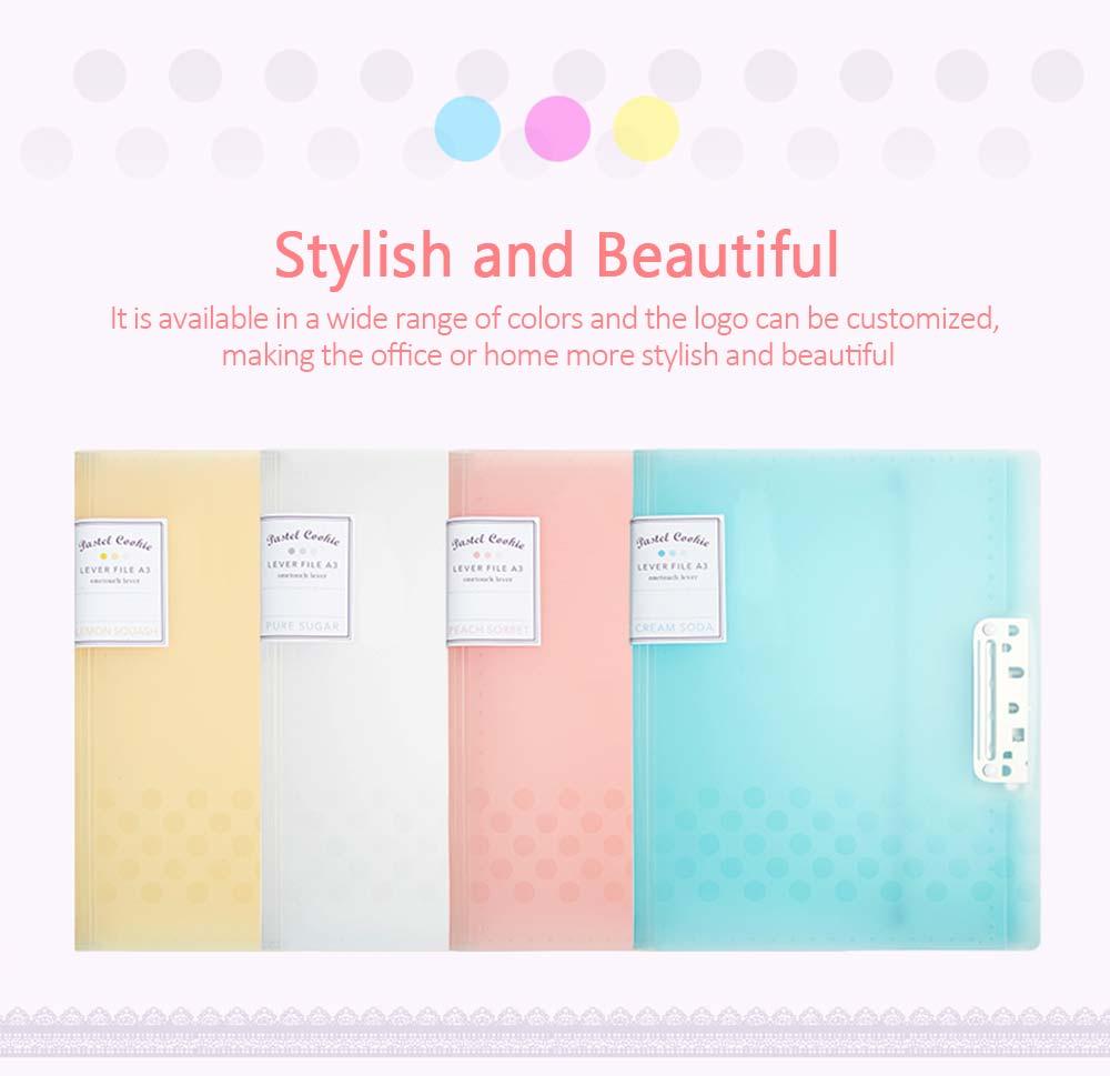 File Sorting Folder, Light Color Cookie A4 File Folder 1