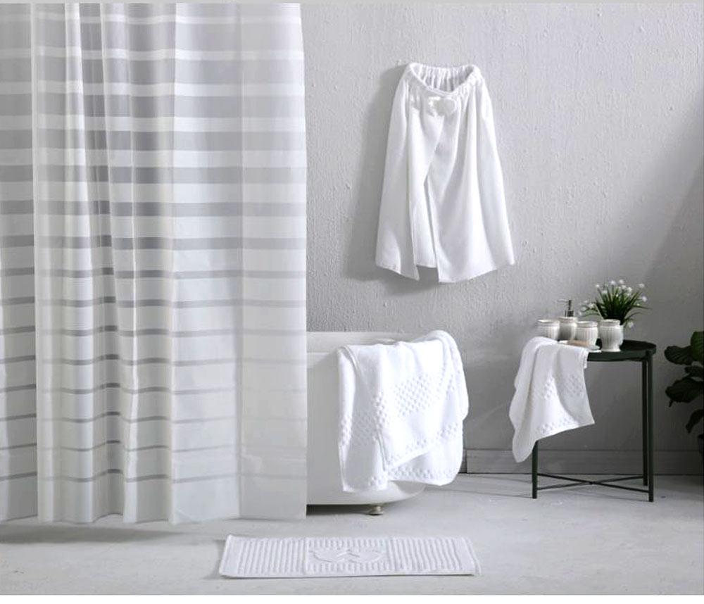 Waterproof Non Mildew Shower Curtain PEVA  Environmental Shower Curtain For Bathroom 0