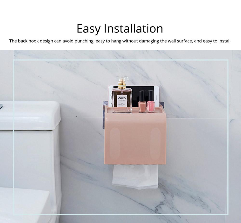 Toilet Paper Rack Holder, Punch-free Bathroom Tissue Box 6