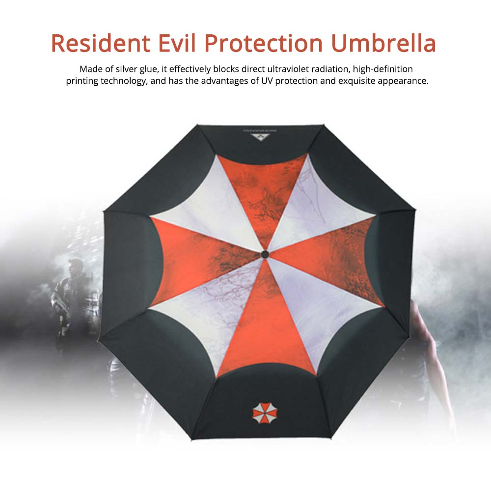 Resident Evil Protection Umbrella, Printed Rainy and Sunny Umbrella 0