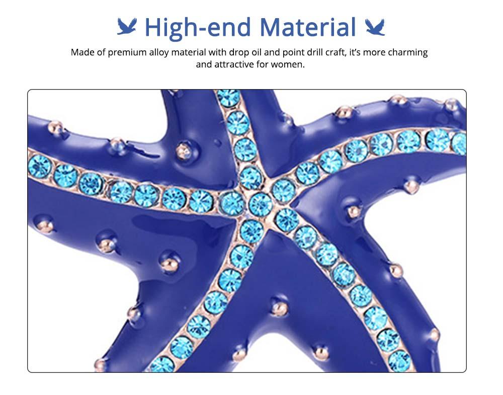 Swarovski Starfish Brooch, Marine Style Diamond-Encrusted Starfish Brooch 3