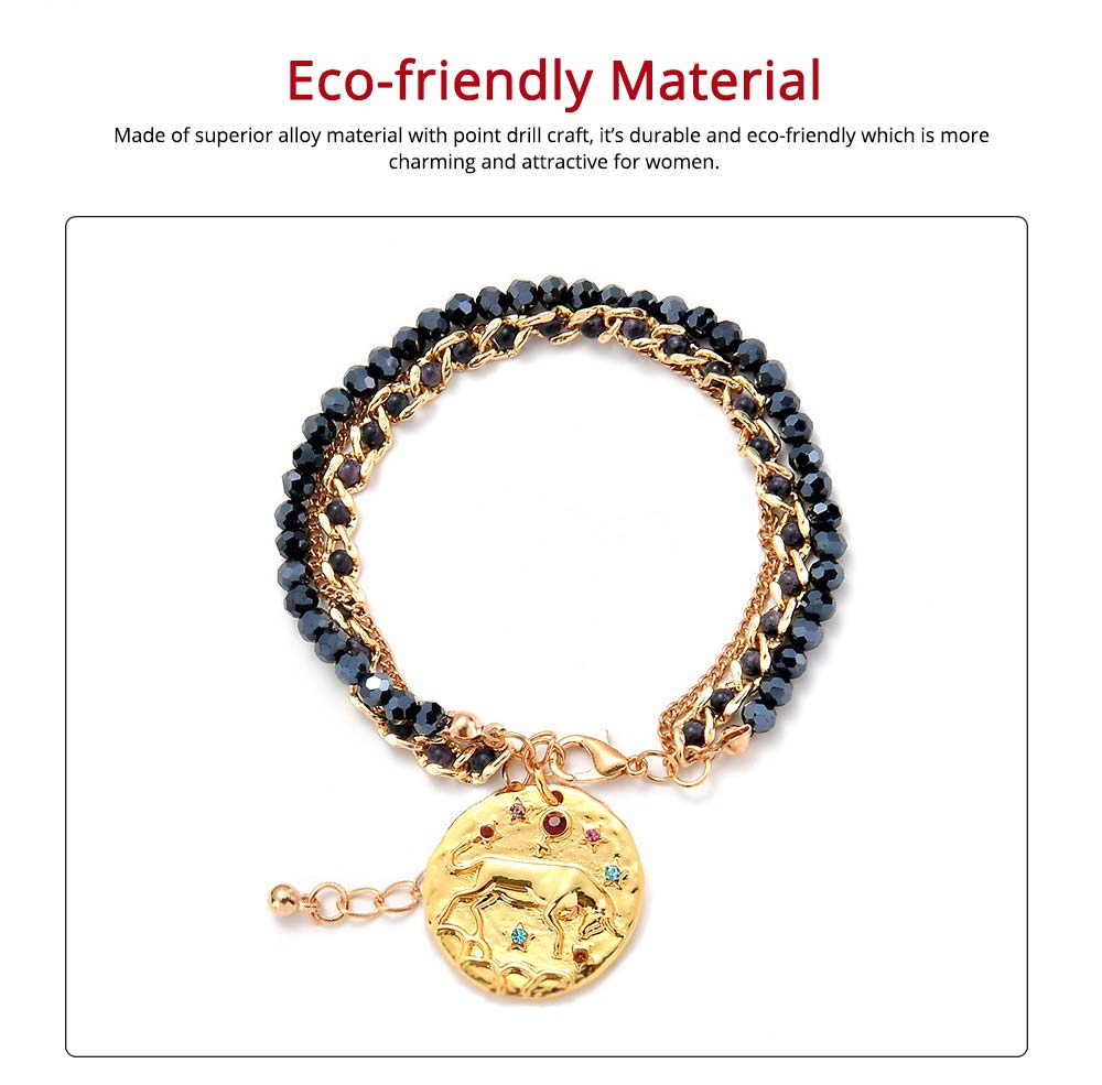 Zodiac Constellation Bracelet, Drill String With Alloy Insert Hand Catenary 3