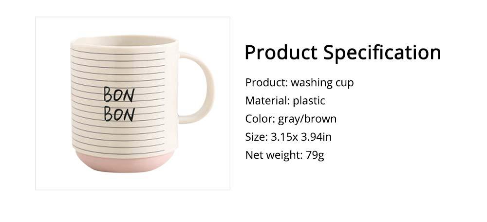 Simple Couple Cups Plastic Tooth Mug Brush Holder 7