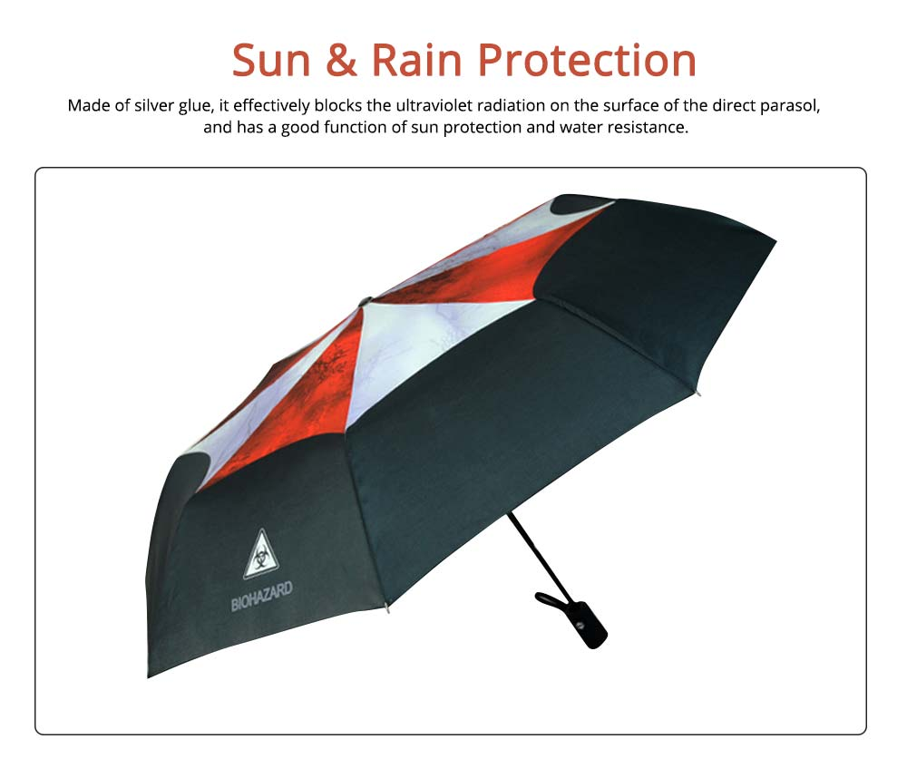 Resident Evil Protection Umbrella, Printed Rainy and Sunny Umbrella 1