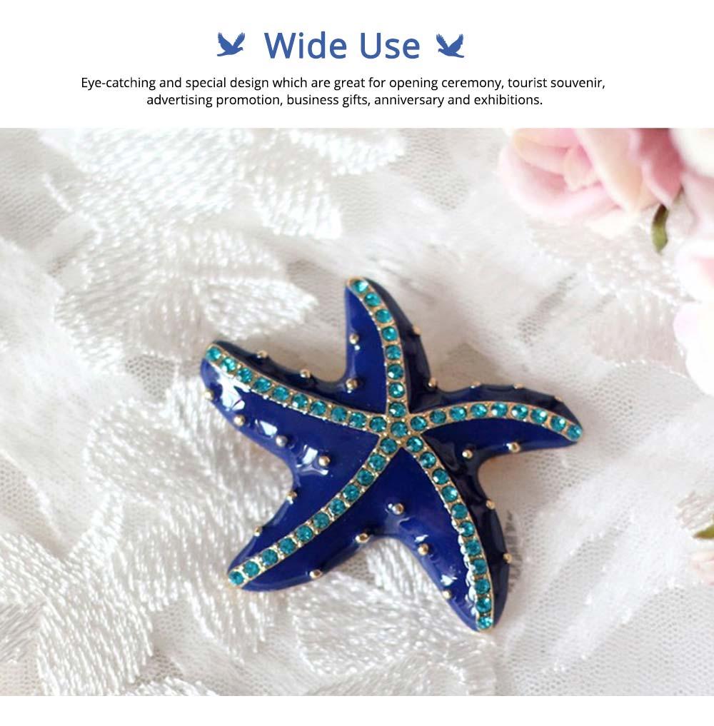 Swarovski Starfish Brooch, Marine Style Diamond-Encrusted Starfish Brooch 4