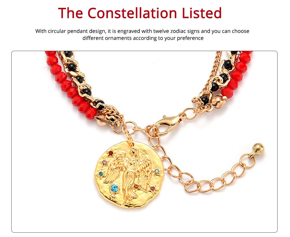 Zodiac Constellation Bracelet, Drill String With Alloy Insert Hand Catenary 1