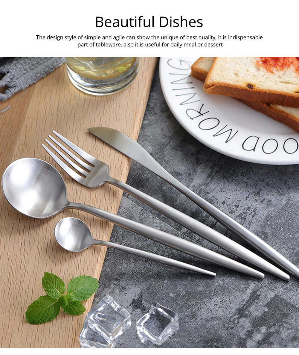 4PCS Flatware Set - Flatware With Matching Steak Knives 4