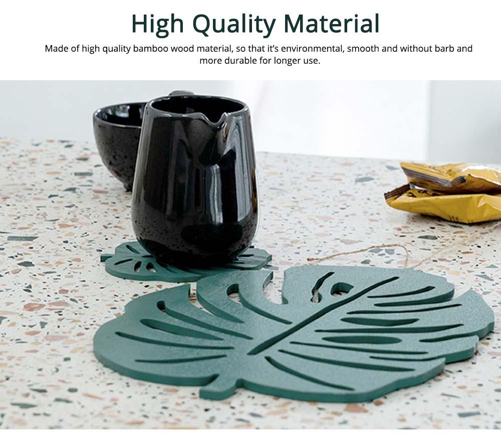 Bamboo Heat Insulation Pads, Removable Heat Resistant Plate Mat Pot Holder 2