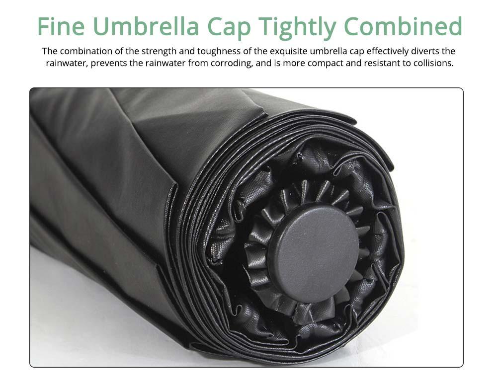 Fantasy Forest Elk Small Black Umbrella, Three Fold Anti-UV Rain Umbrella 3