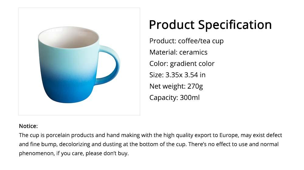 Elegant Porcelain Coffee Mug, Gradient Color Matte Ceramic Tea Cup 6