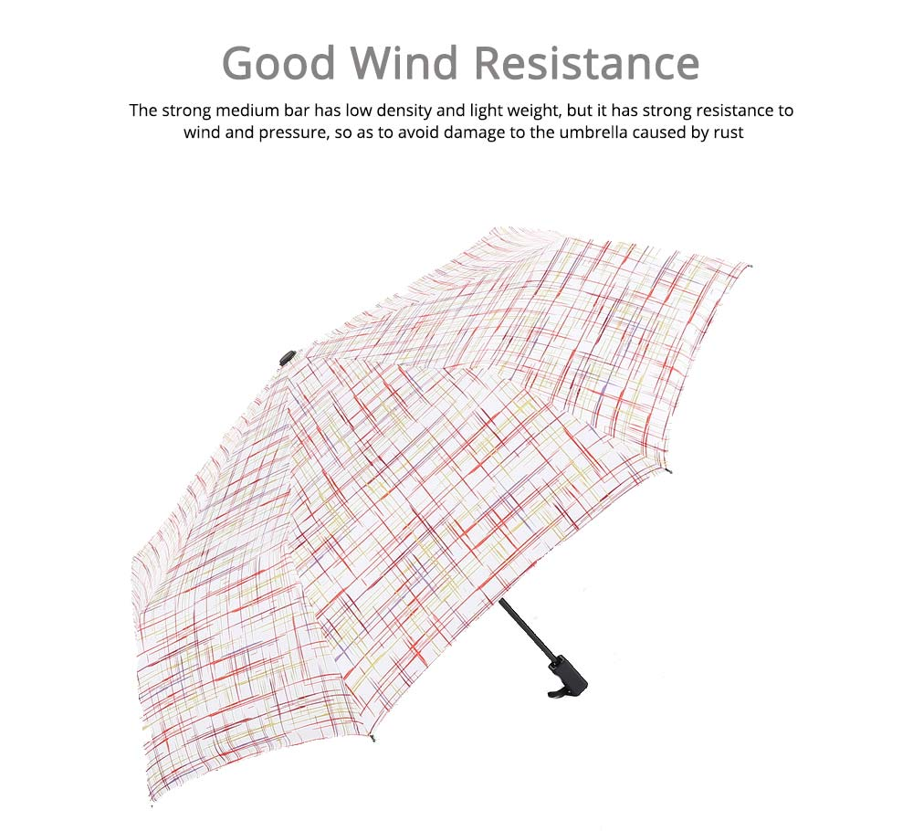Compact Travel Graffiti Umbrella, 3 Folds Auto Open Close Vinyl Umbrella 4