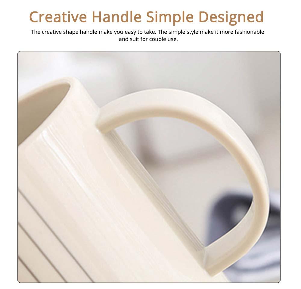 Simple Couple Cups Plastic Tooth Mug Brush Holder 3