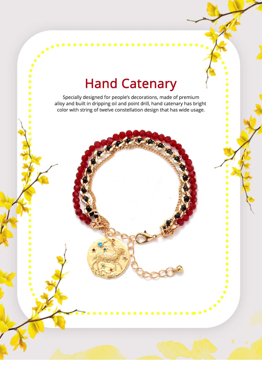 Zodiac Constellation Bracelet, Drill String With Alloy Insert Hand Catenary 0