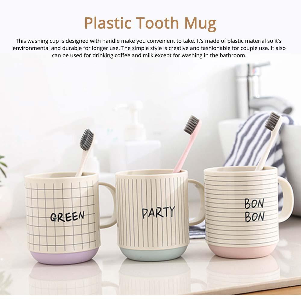 Simple Couple Cups Plastic Tooth Mug Brush Holder 0