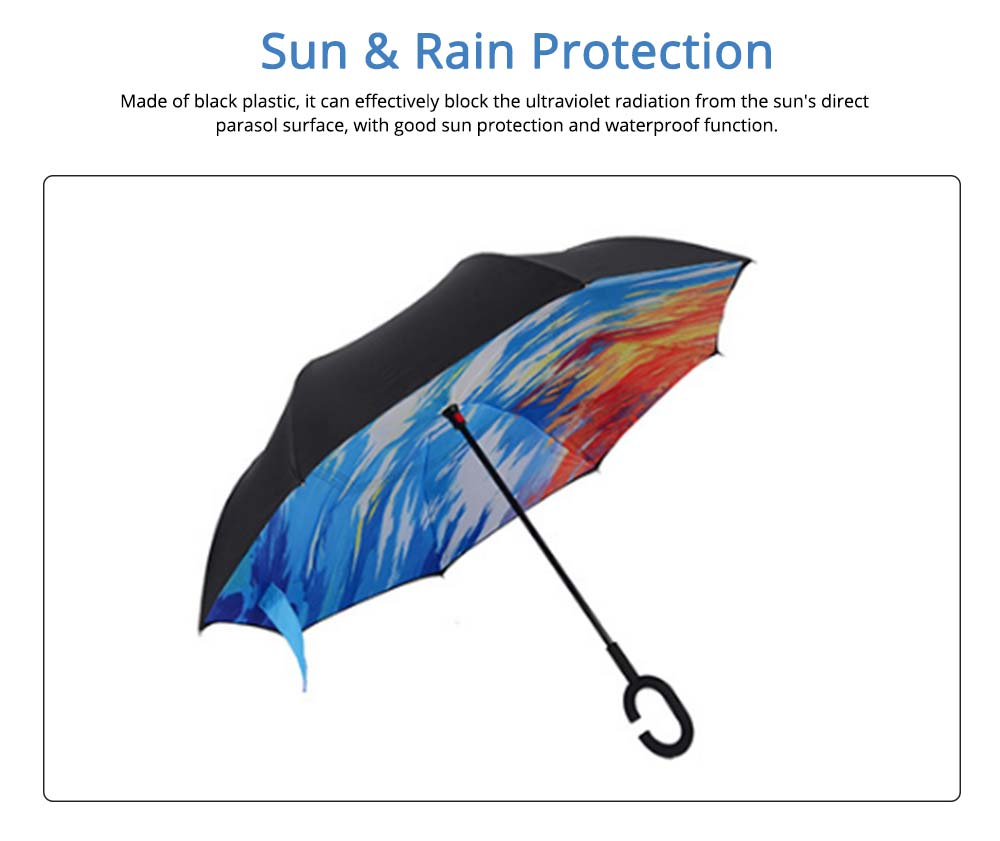 Double-layer Standing Umbrella, C-handle Car Reverse Umbrella 1