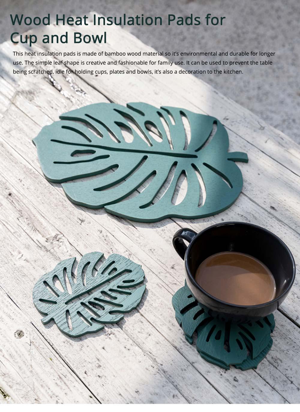 Bamboo Heat Insulation Pads, Removable Heat Resistant Plate Mat Pot Holder 0