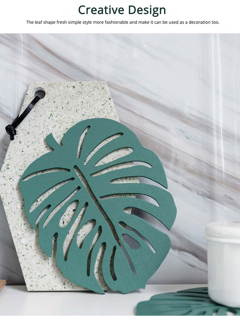 Bamboo Heat Insulation Pads, Removable Heat Resistant Plate Mat Pot Holder 4