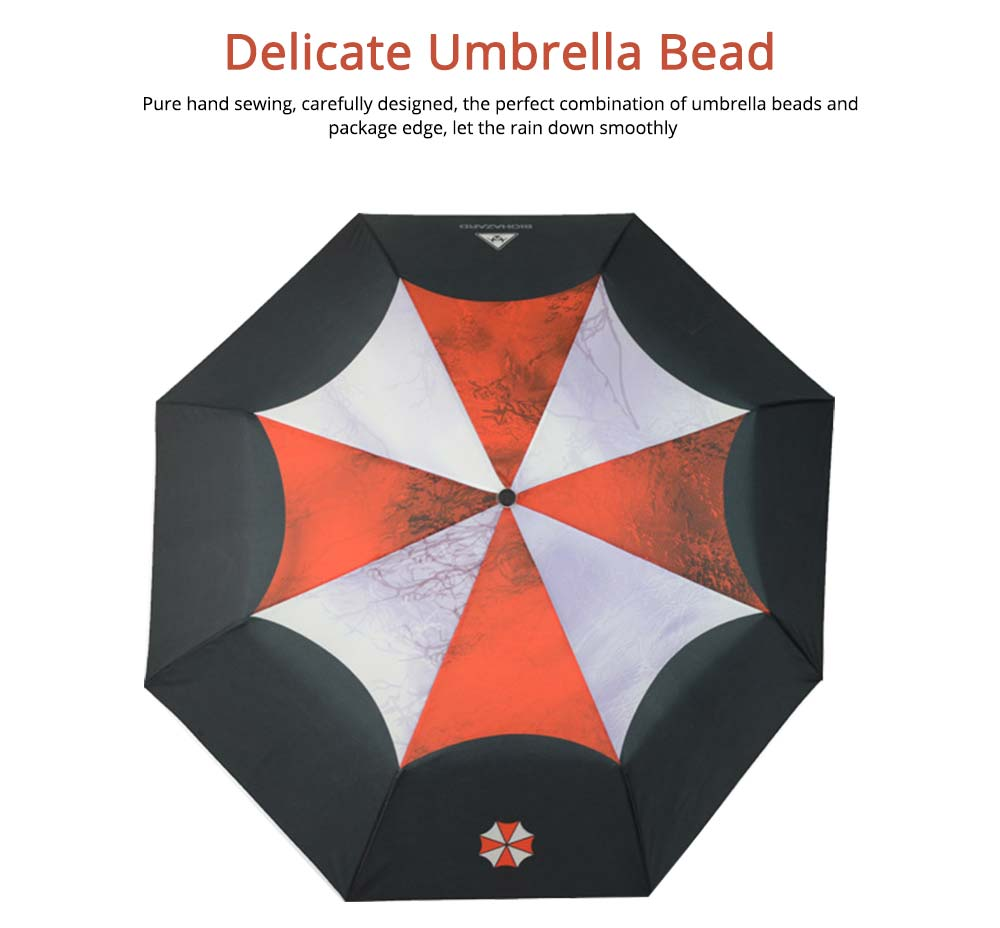Resident Evil Protection Umbrella, Printed Rainy and Sunny Umbrella 3