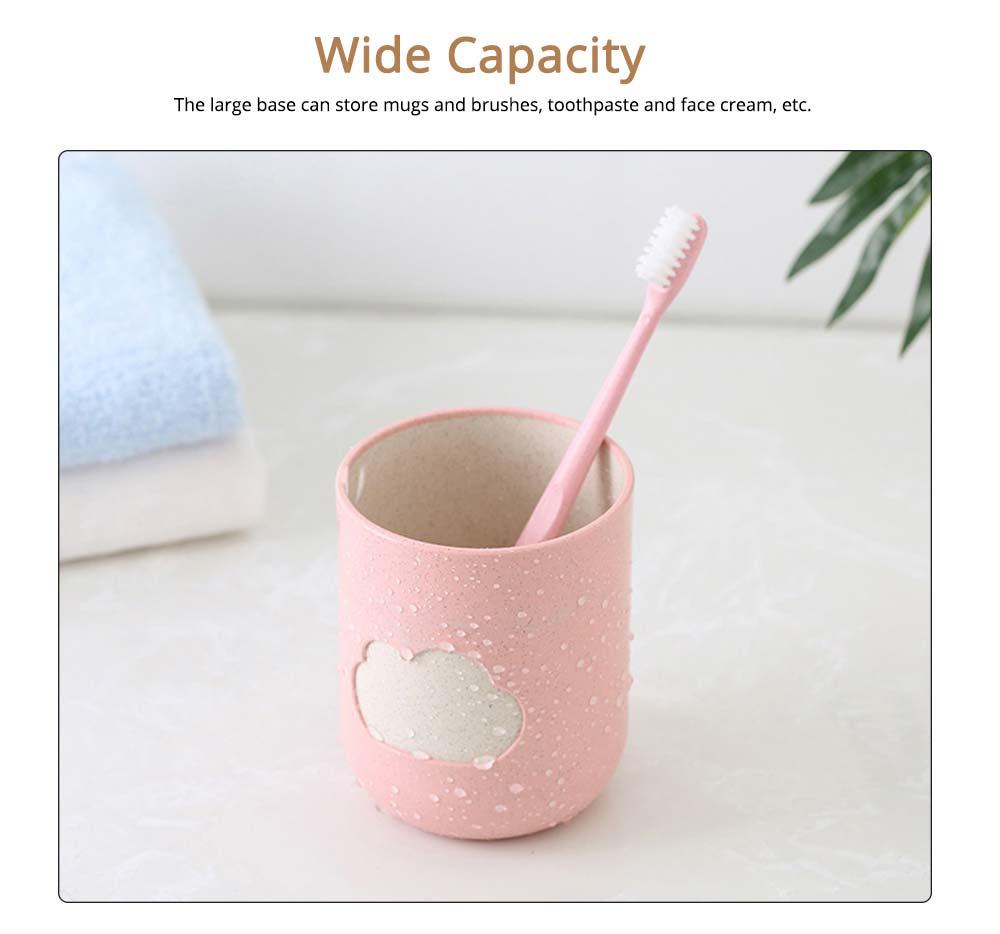 Plastic Toothbrush Mug, Simple Toothbrush Cup Holder 3
