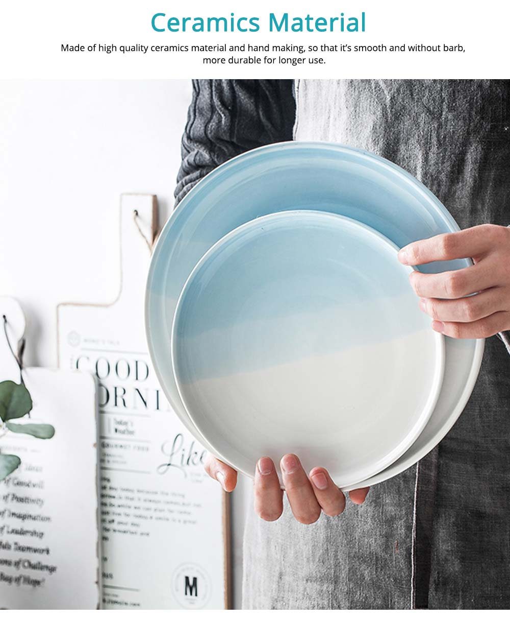 Fashionable Ceramics Plates for Dinner, Different Sizes 2