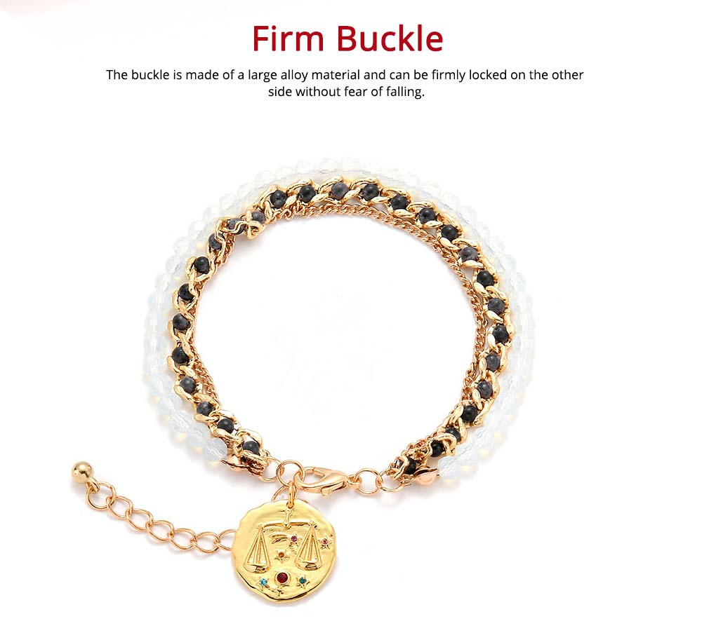 Zodiac Constellation Bracelet, Drill String With Alloy Insert Hand Catenary 5