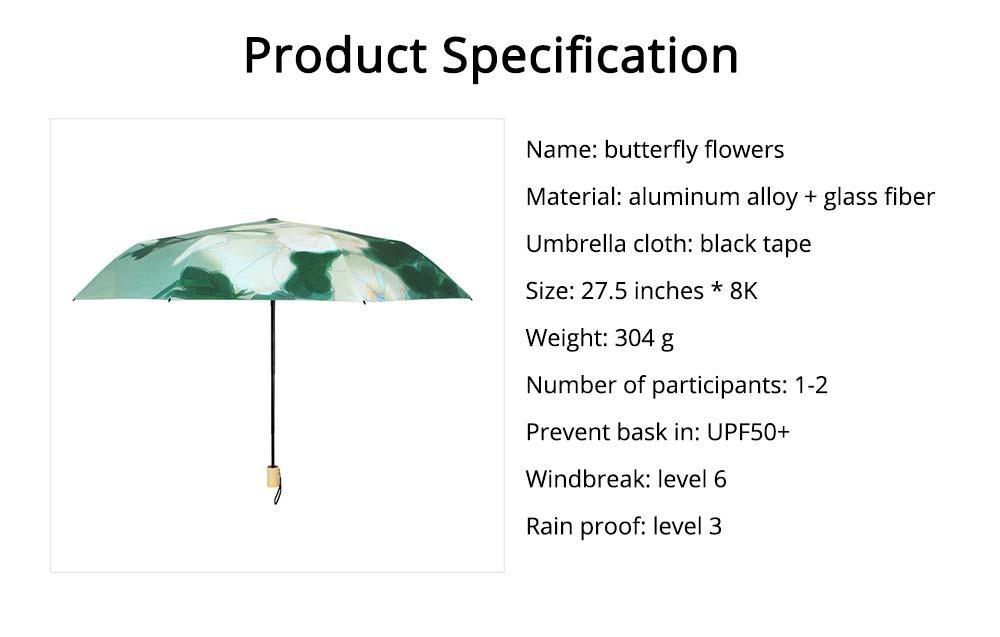Rain and Sun Dual-use Sunscreen Black Umbrella UPF 50+ 7