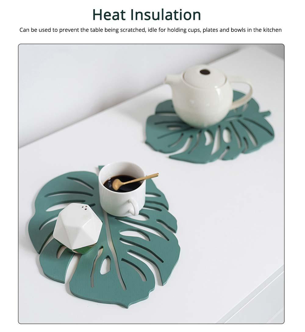 Bamboo Heat Insulation Pads, Removable Heat Resistant Plate Mat Pot Holder 3