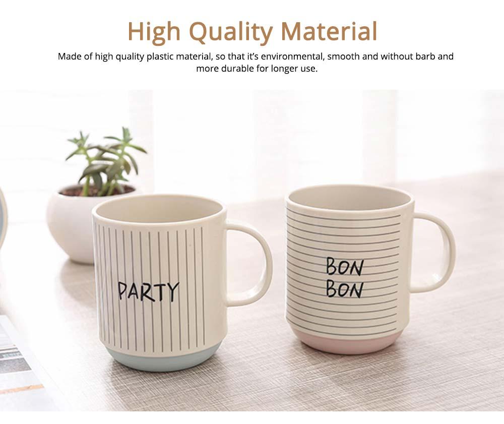 Simple Couple Cups Plastic Tooth Mug Brush Holder 2