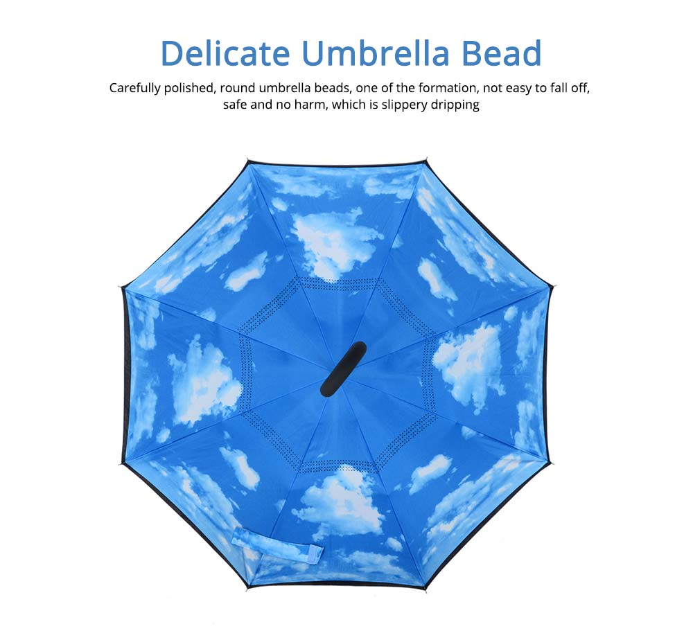 Double-layer Standing Umbrella, C-handle Car Reverse Umbrella 3