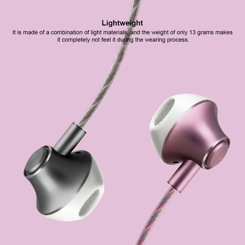 In-Ear Mobile Phone Headset, Line-controlled Dynamic Ring Music Headset 3