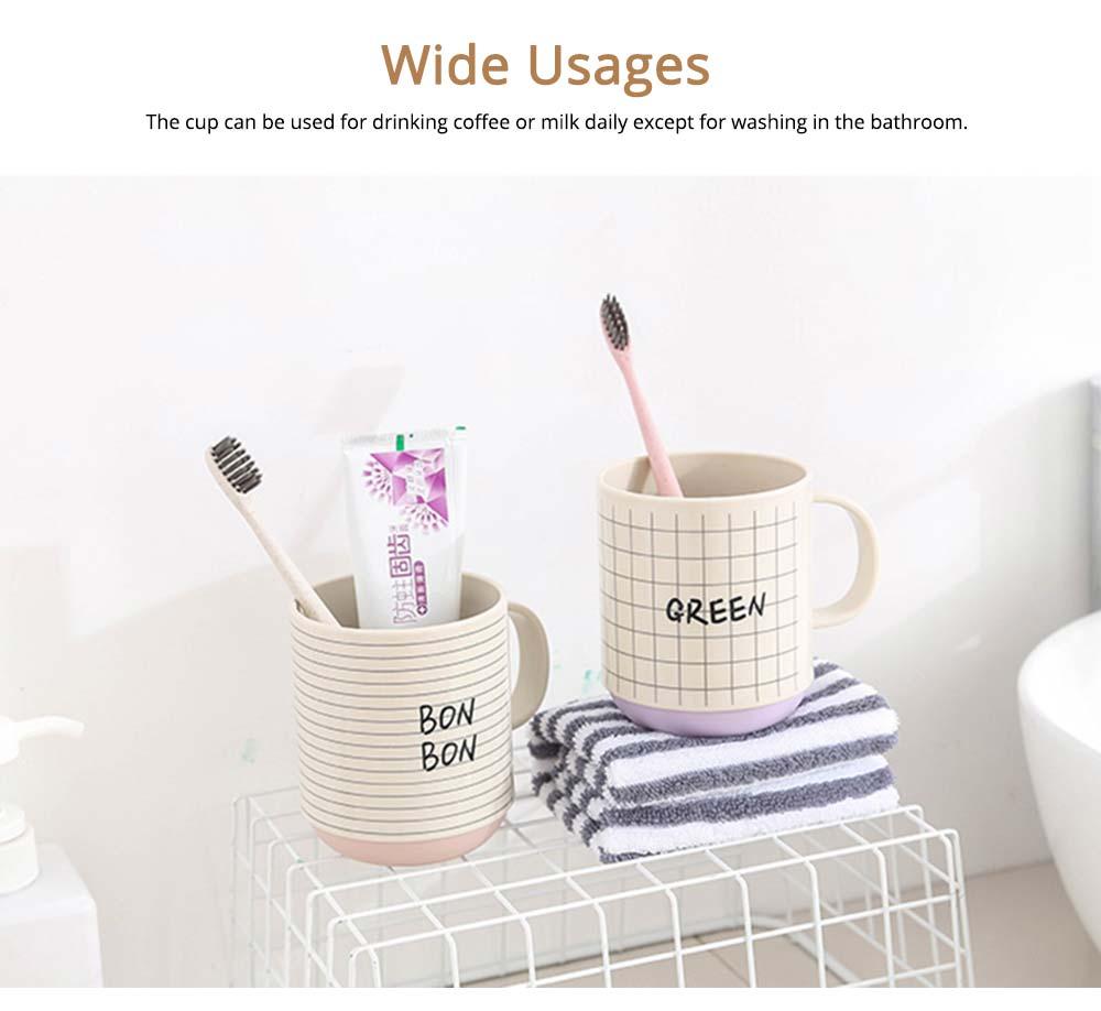 Simple Couple Cups Plastic Tooth Mug Brush Holder 4