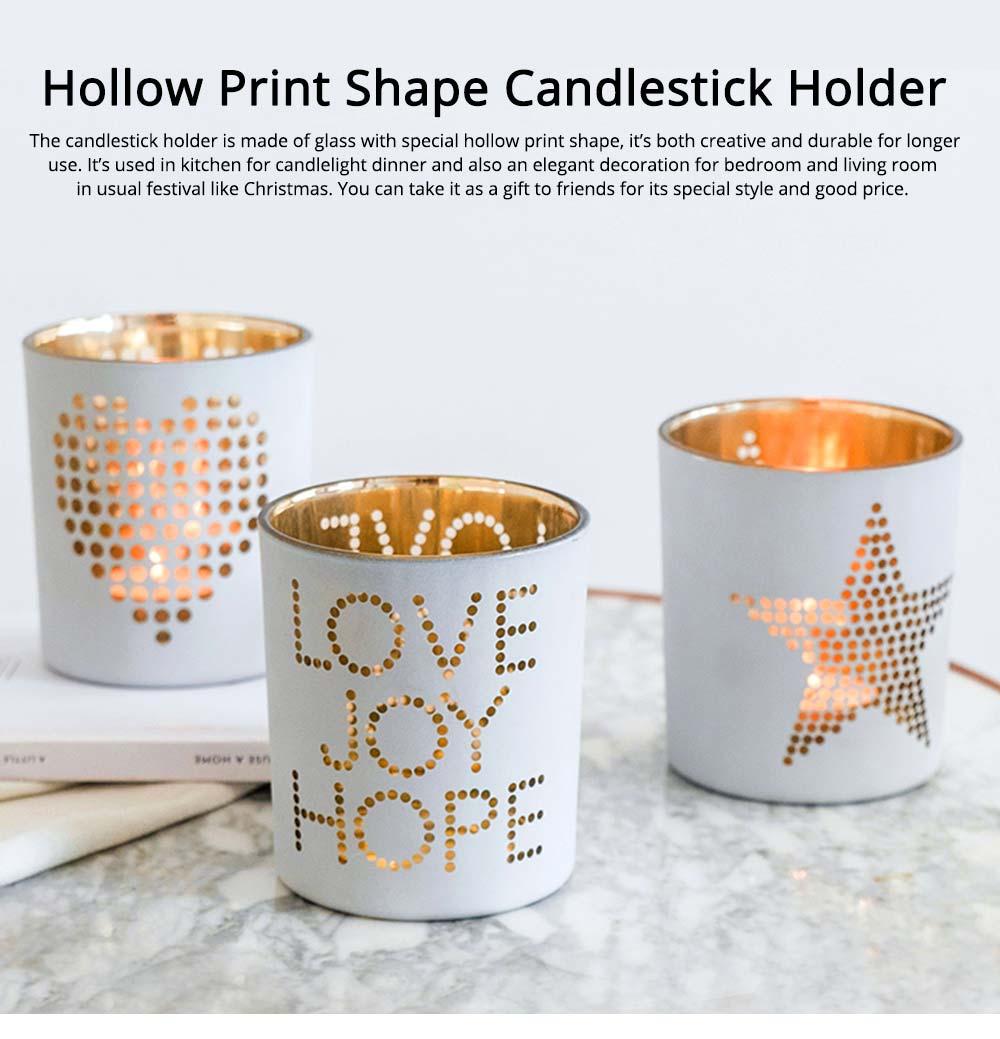 White Glass Candlestick Holder for Candlelight Dinner 0