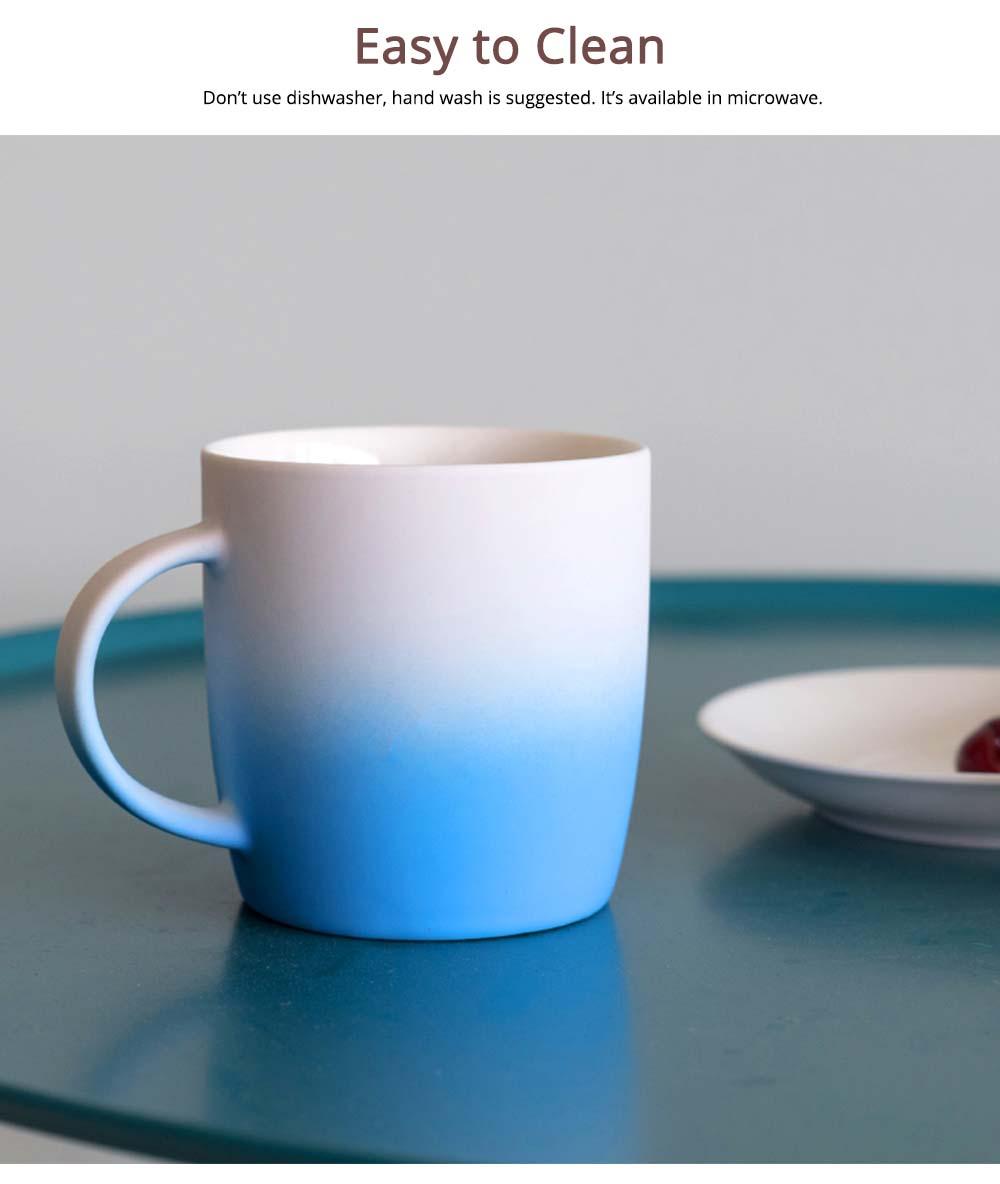 Elegant Porcelain Coffee Mug, Gradient Color Matte Ceramic Tea Cup 4