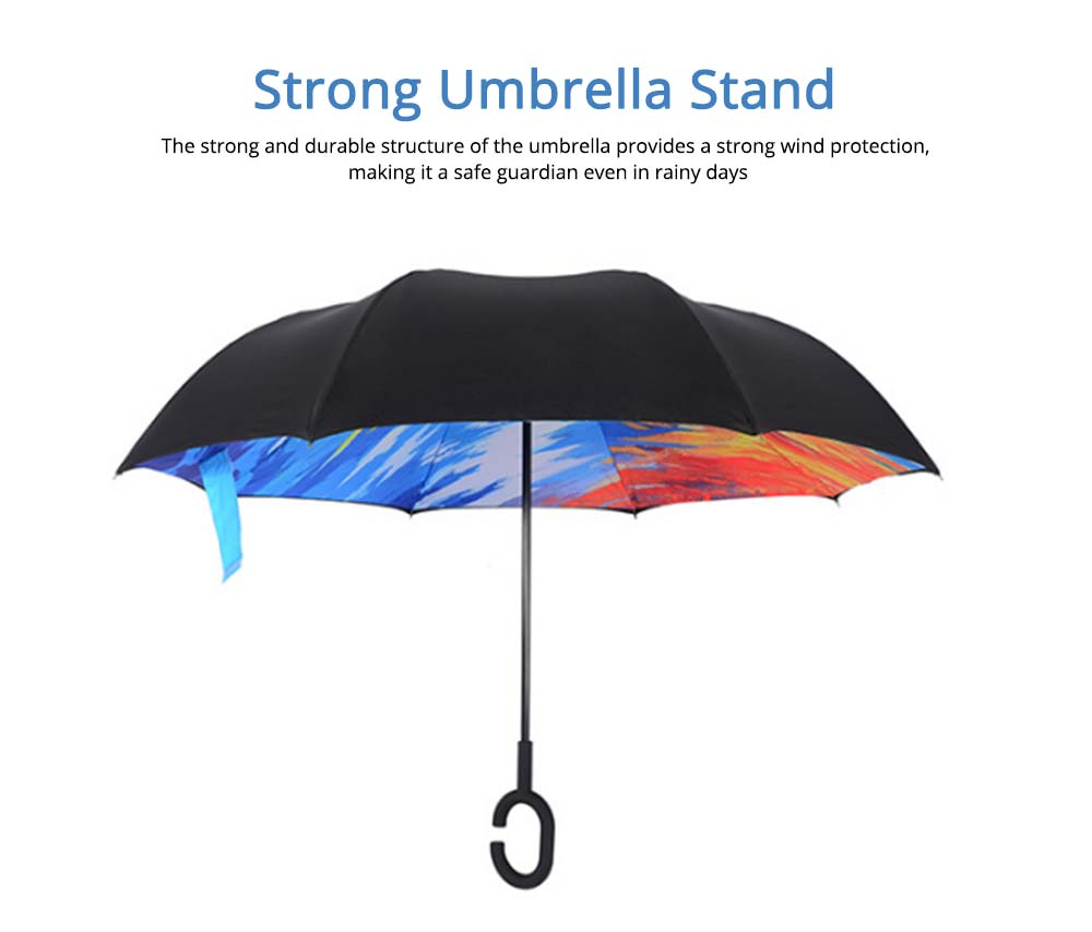 Double-layer Standing Umbrella, C-handle Car Reverse Umbrella 4
