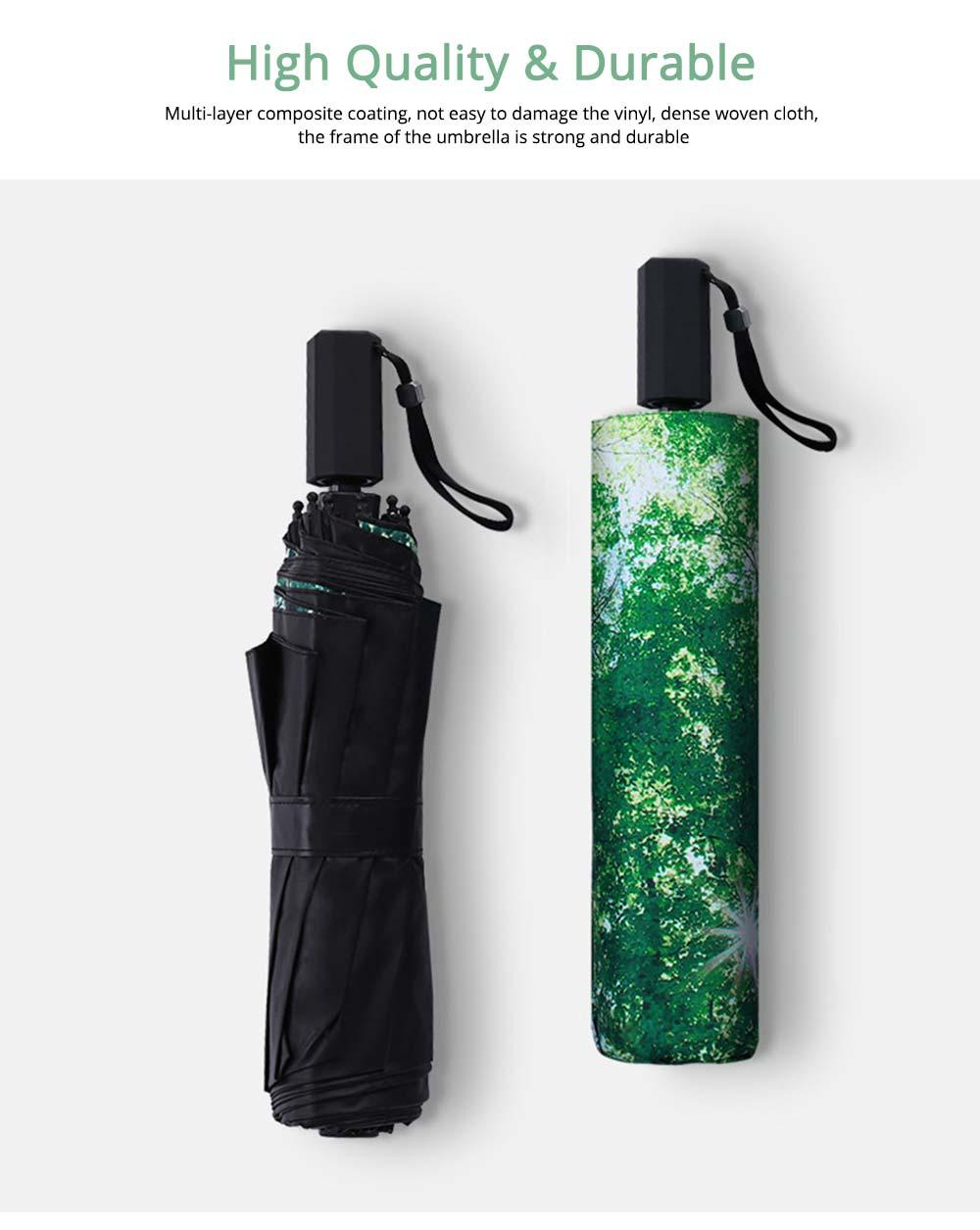 Sun Protection UV Resistant Black Umbrellas - Three Folding 4