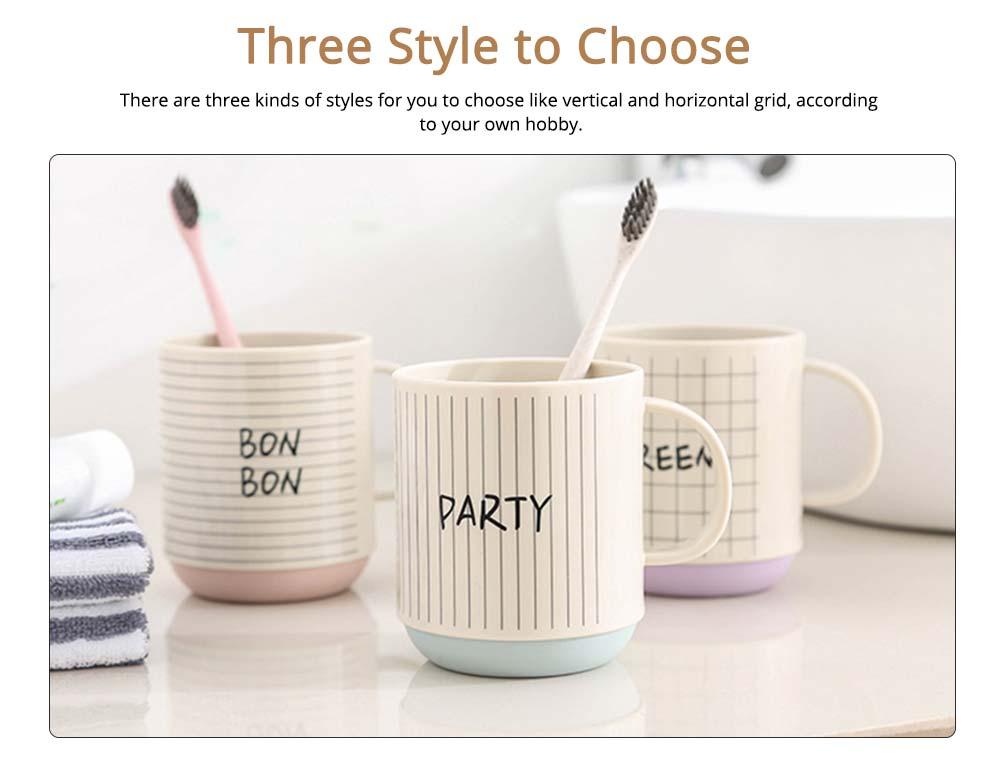 Simple Couple Cups Plastic Tooth Mug Brush Holder 1