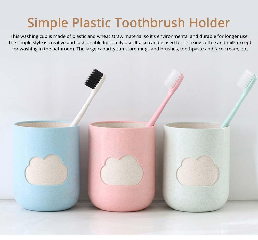Plastic Toothbrush Mug, Simple Toothbrush Cup Holder 0